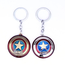 The Avengers Endgame Captain America keychain Marvel Super Hero Statement Letter star keyring Pendants Men Women thanos Jewelry