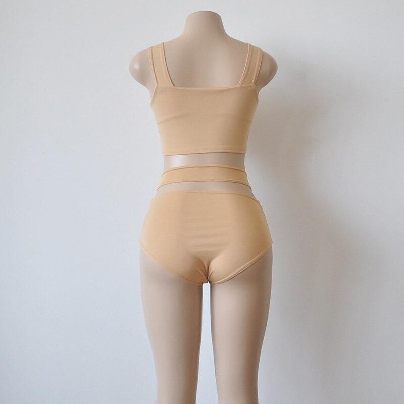 Front Cross-strap Bikini Set Bra Top Bottom Panties for Swimming Beach Pool YS-BUY 5