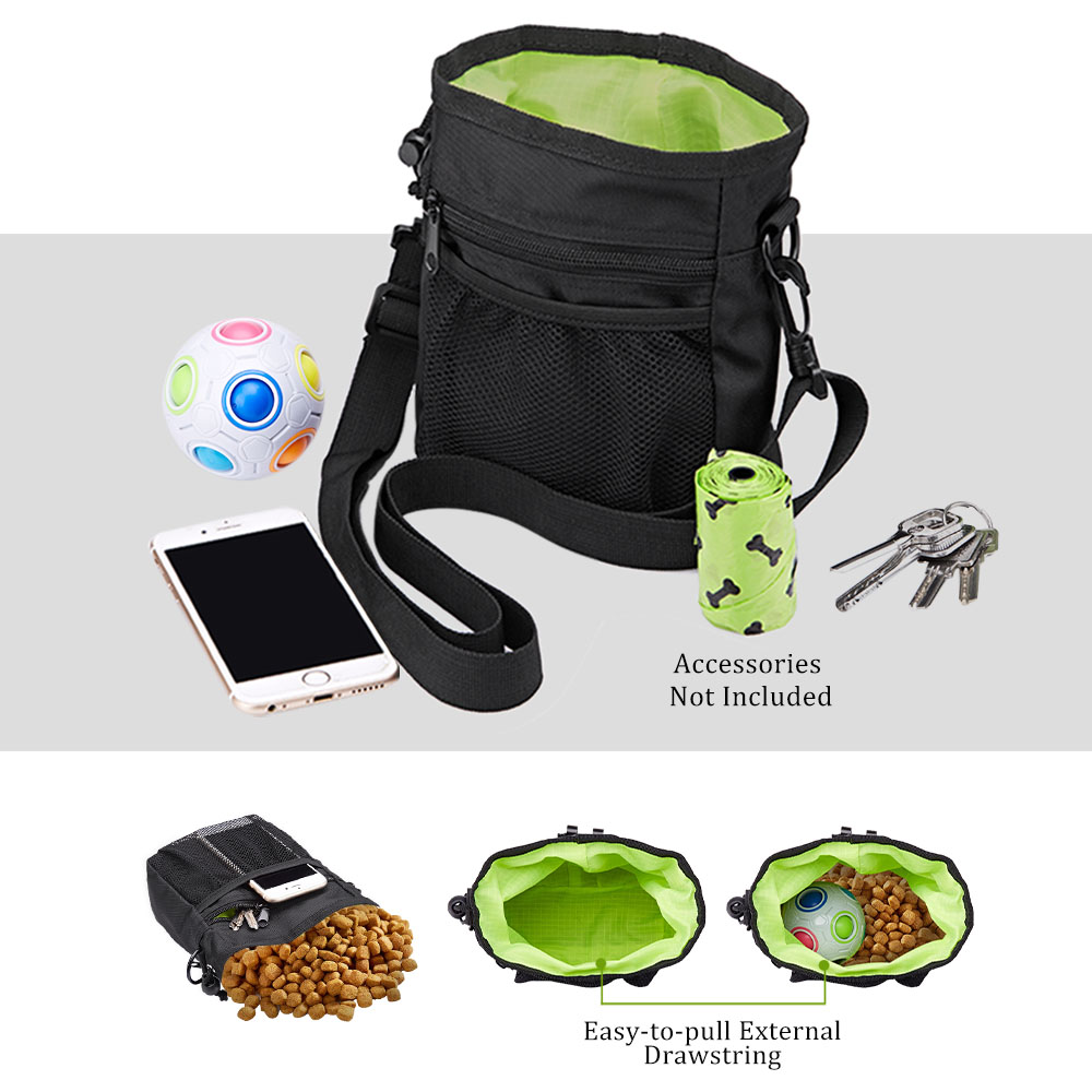 Pet Dog Training Treat Snack Bait Portable Pet Feed Pocket Pouch Waist Back Outdoor Pouch Food Bag Dogs Snack Bag Pack 5