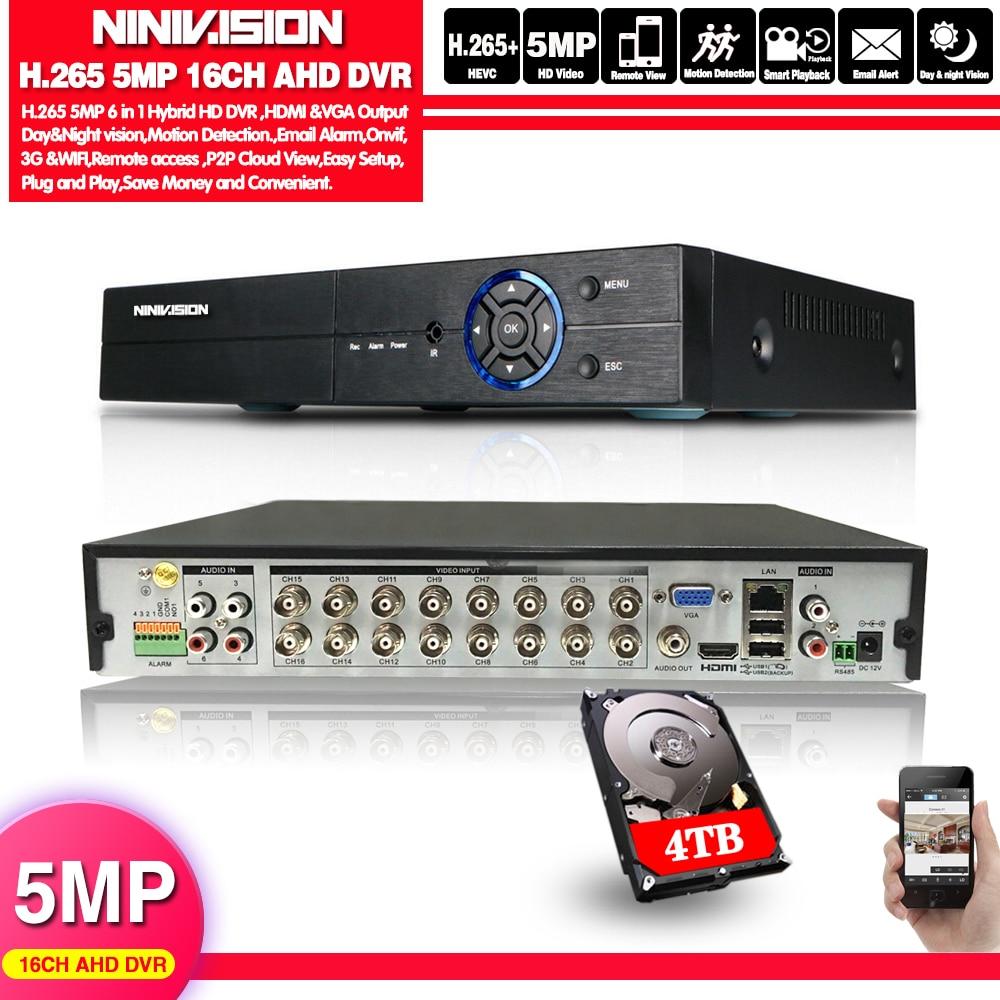 ZOSI 16CH 1080N TVI HDMI Security CCTV DVR Video Recorder Motion Detection Alarm
