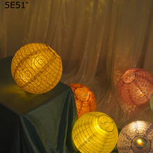 Portable paper lantern photography hanging decoration hollow lantern decoration window/ lampshade 8inch