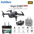 KaKBeir SG107 Mini Drone mit 4K WIFI FPV HD Dual Kamera Quadcopter Optischen Fluss Rc Eders Geste Steuer Kinder spielzeug VS E68 SG106