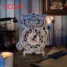 2021 Новинка diy 161 шт Креативные 3d часы Сова деревянная модель