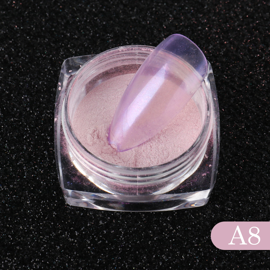 Nail Glitter Aurora Powder Mirror Pearl Chrome Pigment Dust Nail Art Decoration Polishing Mermaid Dip Powder (8)