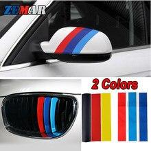 3pcs Alemanha/M cor Grade de Rim Adesivos de Carro Para BMW Coupe E46 X5 E53 E70 X1 E84 F07 G30 F12 F06 E63 Série 1 E87 F20 E88 E82