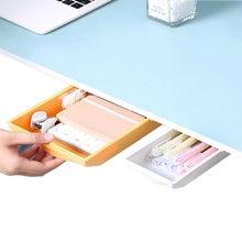 Ящик органайзер для хранения под столом самоклеящийся поднос