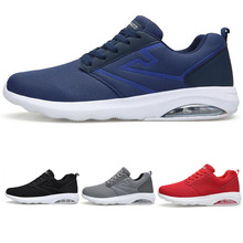цена на Man Running Shoes Men Nice Zapatillas Athletic Trainers Black Sports Shoe Air Cushion Outdoor Jogging Walking Sneakers 8