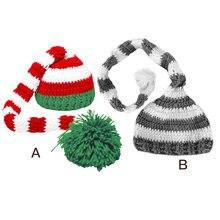 Рождественская Детская шапка реквизит для фотосъемки новорожденных