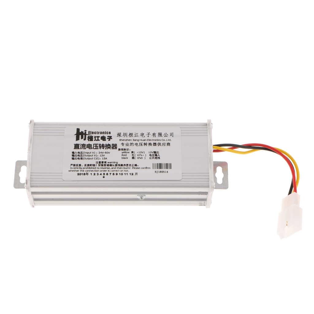 Premium DC 24V ~ 60V untuk DC 12V Power Supply Inverter 15A Converter Adaptor untuk Mobil Listrik