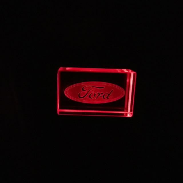 Ford Car Logo Crystal Drive USB flash drive pendrive 4GB 8GB 16GB 32GB 64GB 128GB Externe Custom Logo memory stick u disk