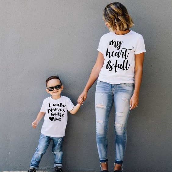 ฤดูร้อนแม่ลูกสาว t เสื้อครอบครัวดู mommy และ me ชุดเสื้อผ้าแม่แม่แม่และเด็กหญิง tee เสื้อเสื้อผ้า