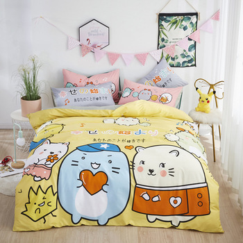 3D Cotton Cartoon Bedding Set for Kids/Baby/Child/Boy/Girl Unicorn Crocodile Cat Rabbit Animal Duvet Cover Set Queen Quilt Cover