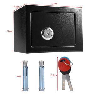 Image 5 - Abschließbar Langlebige Starke Hohe Sicherheit Stahl kleinen Safe Schlüssel Betrieben Geld Bargeld Lagerung Hause Büro