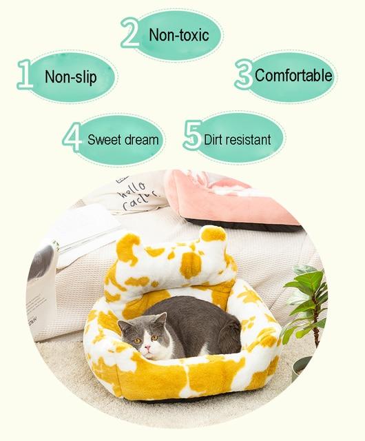 Washable Super Soft Velvet Pet Nest - Cushion Sleeping Bag  2