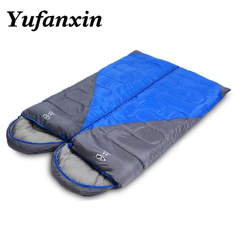 Sleeping Bag Camping Envelope Sleeping Bag Thermal Adult 4 Season Sleeping Bag Outdoor Travel Waterproof Sleeping Bed 2 Color