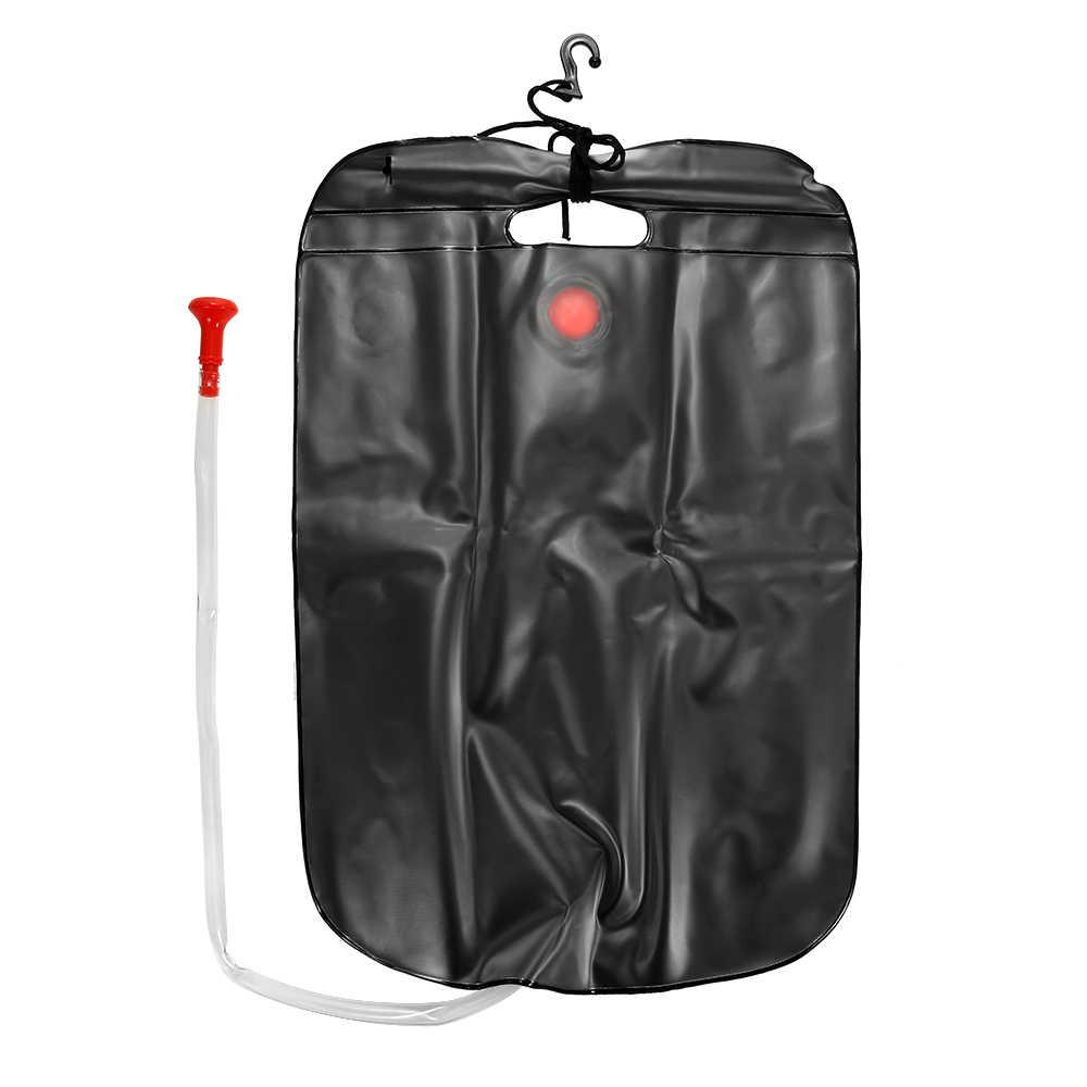 nataci/ón con calefacci/ón solar 20 litros KIPIDA Bolsa de ducha solar viajes senderismo manguera extra/íble y cabezal de ducha conmutable para camping playa