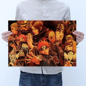 Room Decoration Anime Naruto Retro Kraft Paper Poster Wall Sticker Bar Cafe Bedroom Decoration Painting