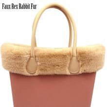 2020 New 8 Colors Faux Rex Rabbit Fur Plush Trim for O BAG Thermal Plush Decoration Fit for Classic Big Mini Obag For Winter