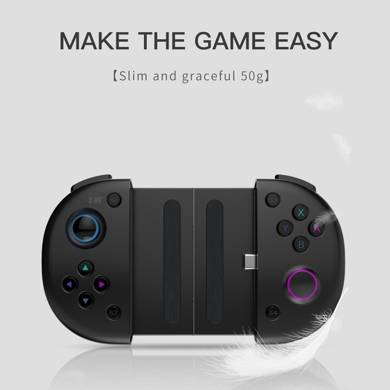 Manette de jeu N1 type-c pour téléphone Android, Joystick analogique cliquable, avec Port type-c, charge rapide, pour Huawei Honor