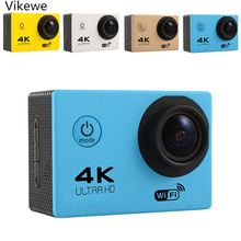 Купить Ultra HD 4K action Camera wifi Camcorders 16MP 170 go cam 4 K deportiva 2 inch f60 Waterproof Sport Camera pro 1080P 60fps cam в интернет-магазине дешево