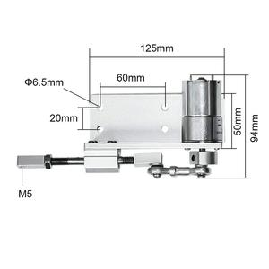 Image 4 - 330L Small DIY Design Reciprocating Cycle Linear Actuator with DC Gear Motor 12V 24 Volt Stroke 12/16/20mm Adjustable 5~1000 Rpm