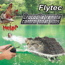 Flytec V005 RC Boat 2.4G Simulation-Crocodile Head Water Racing Electrical Remote Control Kids toys Juguetes brinquedos игрушки