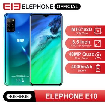 "Pre Sale ELEPHONE E10 Octa Core Smartphone 4GB 64GB 6.5"" Quad Camera 48MP Main Cam Android 10 NFC Side Fingerprint Mobile Phone"