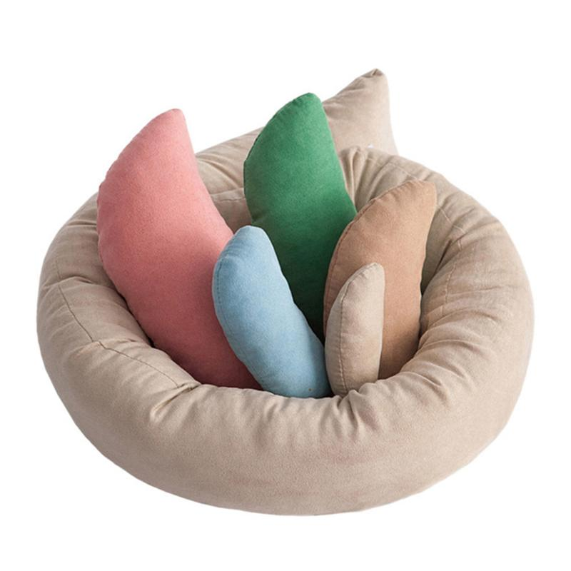 6pcs/Set Baby Photo Shoot Wheat Donut Posing Props Baby Pillows Ring Newborn Photography Props Basket Filler Baby Care