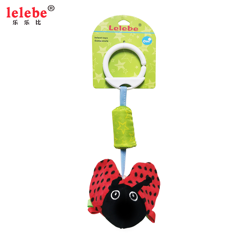Lelebe Baby Toys 0-1 Year Old Dolphins Honeybee Sea Turtle Beetle Bell Animal Windmill Bell Truck Hanging Mother And