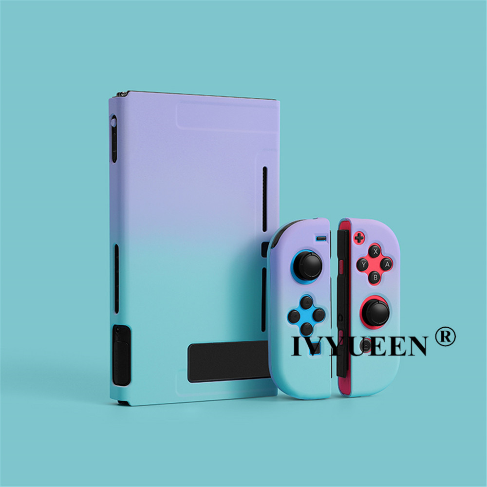 IVYUEEN For Nintend Switch NS NX Console Protective Hard Case Shell For Nintendos Switch JoyCon Joy Con Colorful Back Cover