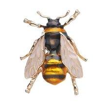 Эмаль Шмель броши для мужчин и женщин желтая пчела насекомое Рождественская брошь в подарок брошь для банкета булавки