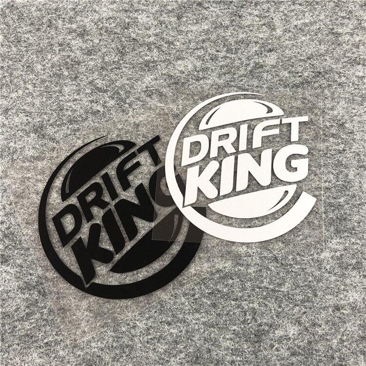 12.5CM*13CM DRIFT KING Car Sticker Decal Funny Boosted Vinyl Black Silver