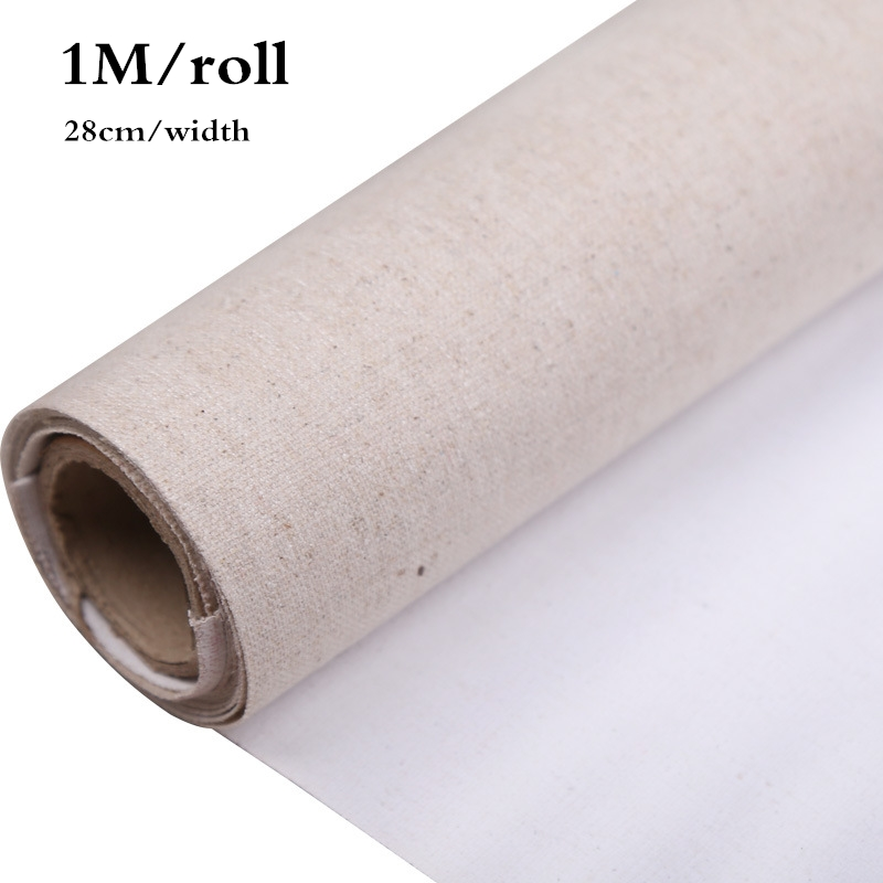 28cm Width/Roll Professional Blank Canvas For Painting Layer Acrylic Oil Painting Canvas Linen Blend Primed Supplies For Artist