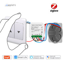 Tuya Smart Zigbee 3.0 Curtain Switch Module Esp8266 Motorized Roller Shutter Alexa Echo Google Home Voice Control Zigbee2Mqtt