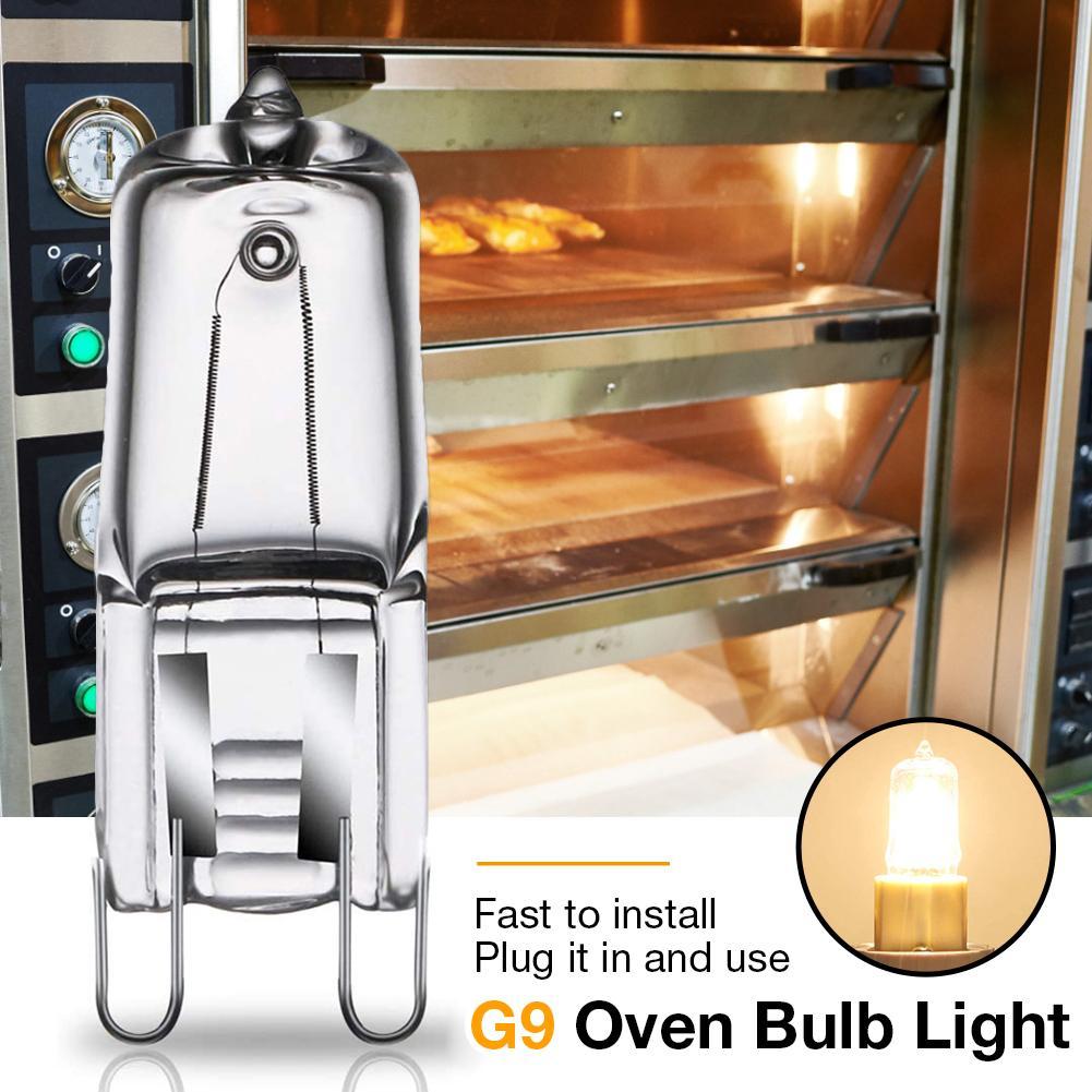 Галогенная лампа для духовки, 40 Вт, лампа G9, высокотемпературная, стойкая, для холодильников, микроволновых печей, 9 мм, 110 В/220 В