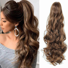 Hair-Extension Ponytail-Hair Claw-Clip Long for Women High-Temperature-Fiber 22-Ombre