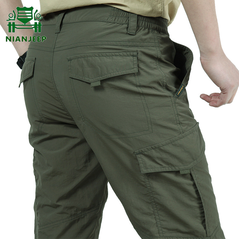 Men's Outdoor Casual Pants Summer Breathable Quick Dry Pant Trousers Tactical Waterproof Cargo Trousers ropa pantalones hombre