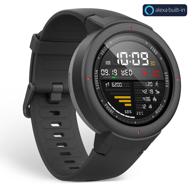 Version mondiale Huami Amazfit bord Sport Smartwatch GPS Bluetooth musique jouer appel réponse Message intelligent pousser moniteur de fréquence cardiaque - 2