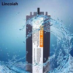 Водонепроницаемые трансформаторы для освещения, переменный ток 220 В в постоянный ток 12 в 24 В, светодиодный драйвер, адаптер питания 10 Вт 120 Вт...