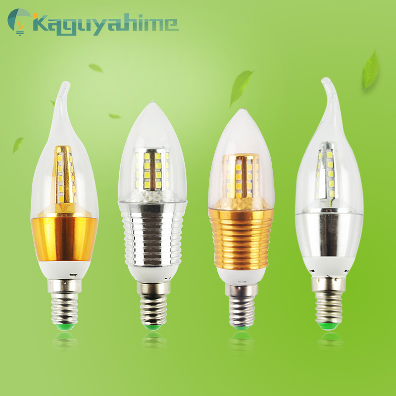 Светодиодный светильник E14, 3 Вт, 6 Вт, 9 Вт, 12 Вт, 220 В, 240 в перем. Тока
