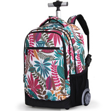18 Inch Wheeled Backpack Kids School on Wheels Trolley Bag for Teenagers Girls Children Rolling