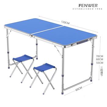 Składany stół stoisko przenośny stolik na zewnątrz składany dom prosty stół i krzesła przenośny push mały stół stół aluminiowy tanie i dobre opinie Metal Z aluminium Nowoczesna i minimalistyczna samodzielnie 120*60CM Stół ogrodowy meble zewnętrzne Nowoczesne