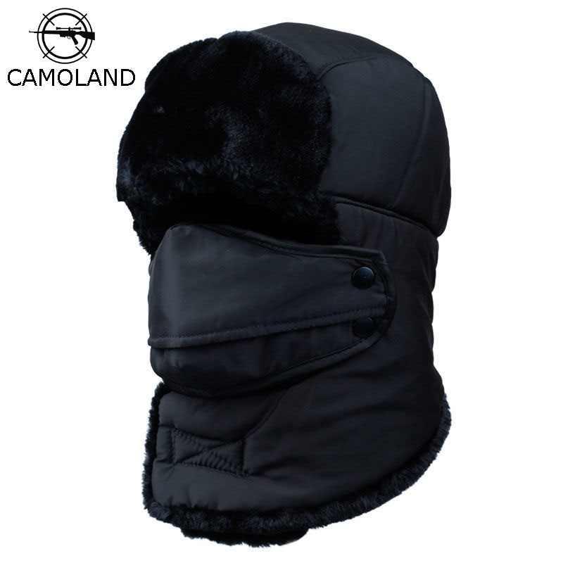 Men Women Winter Face Ear Flap Cover Keep Warm Hunting Trapper Hat Windproof Cap