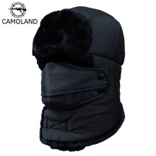 Winter Warm Earflap Bomber Hats Caps Scarf Men Women Russian