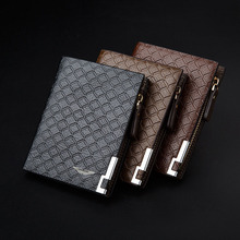 Long Style Wallet Black/Light/Dark Brown Top PU Leather Car logo Bag Card Package Wallet Coin Bag For Aston Martin Free Shipping
