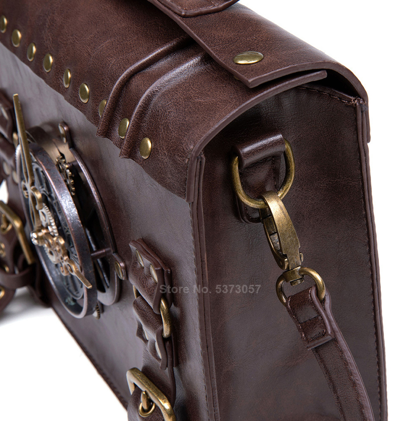 Renaissance Navigator Shoulder Bags Medieval Costume Steampunk Bomber Cosplay Antique Gear Leather Carnival Party Crossbody