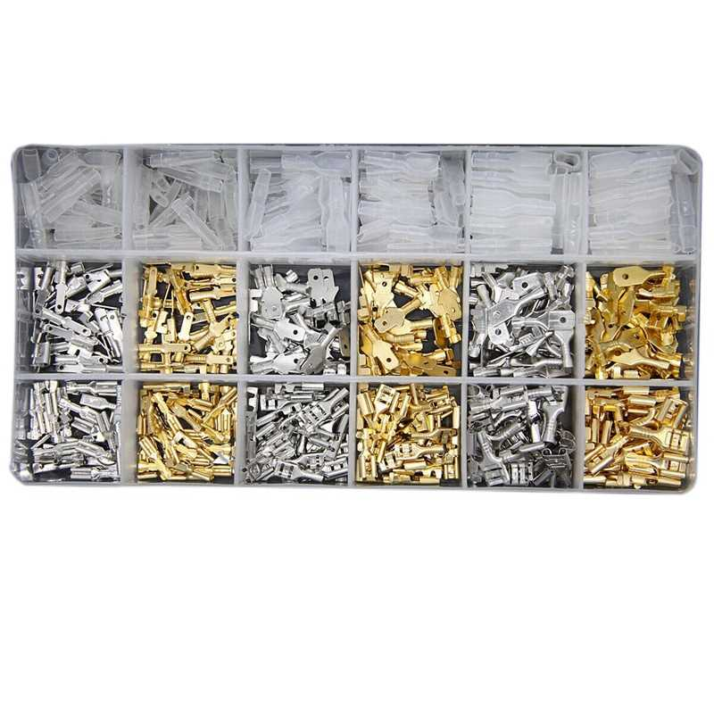 540Pcs 2.8/4.8/6.3Mm Wire Connectors Kit Crimp Female/Male Spade Terminals Set for Electrical Wiring Car Audio Speaker
