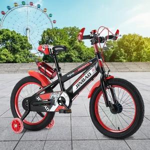 Детский велосипед с нескользящей ручкой, 18 дюймов, с колесами для тренировок, для мальчиков и девочек