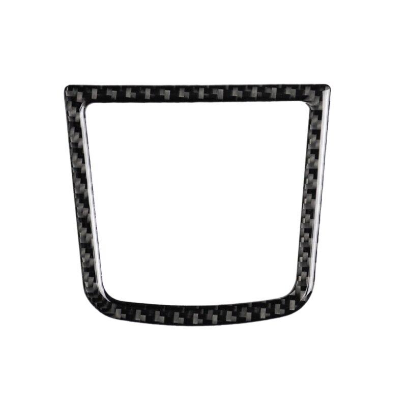 Car Smooth Carbon Fiber Control Debris Box Interior Sticker For Mazda Axela 2017-2018