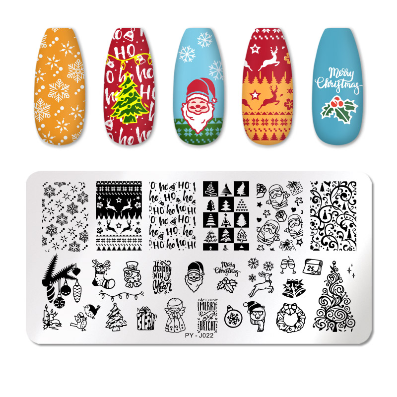 PICT YOU 12*6cm Nail Art Templates Stamping Plate Design Flower Animal Glass Temperature Lace Stamp Templates Plates Image 55